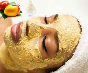 ماسک میوه ای خانگی انبه و ماست