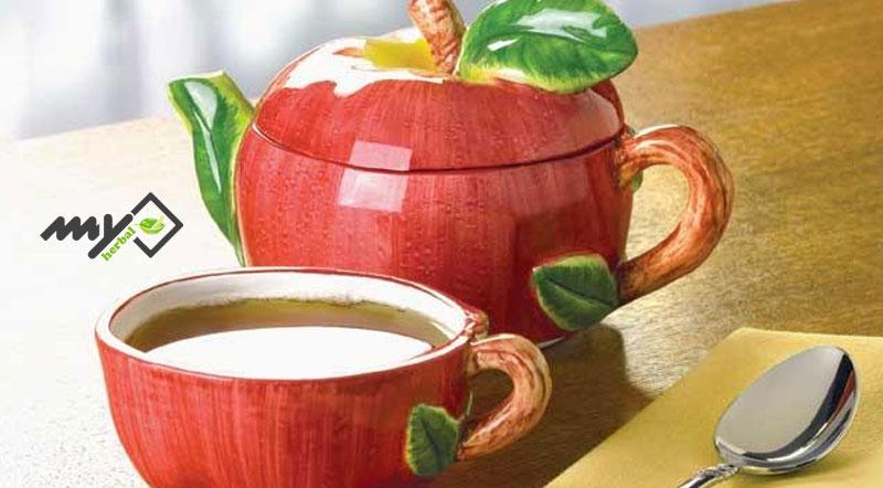 دمکرده چای سیب و شاتوت