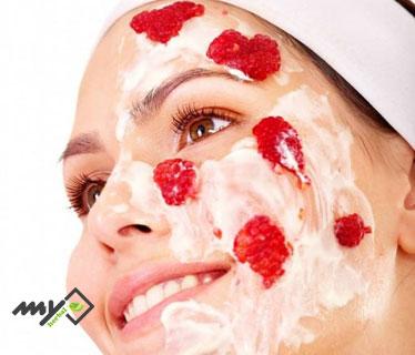 ماسک برای سفت شدن پوست صورت - توت فرنگی