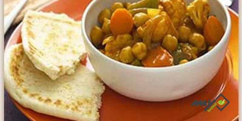 خوراک کاری سبزیجات رژیمی (کم کلسترول)