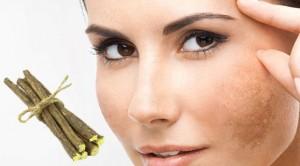 درمان لک های پوستی با شیرین بیان